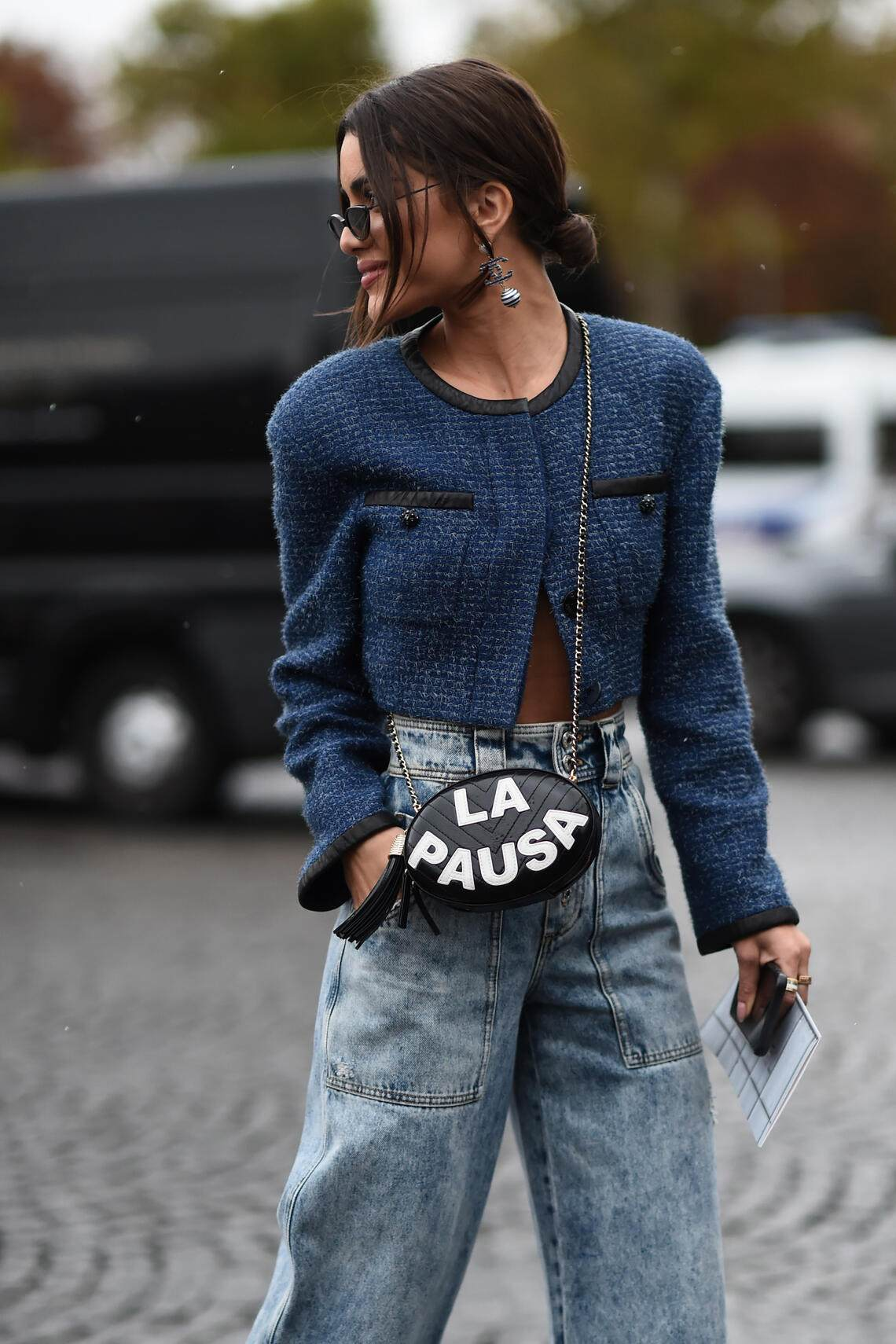 PARIS, FRANCE - OCTOBER 01: Camila Coelho is seen wearing Chanel outside the Chanel show during Paris Fashion Week SS20 on October 1, 2019 in Paris, France. (Photo by Daniel Zuchnik/Getty Images)