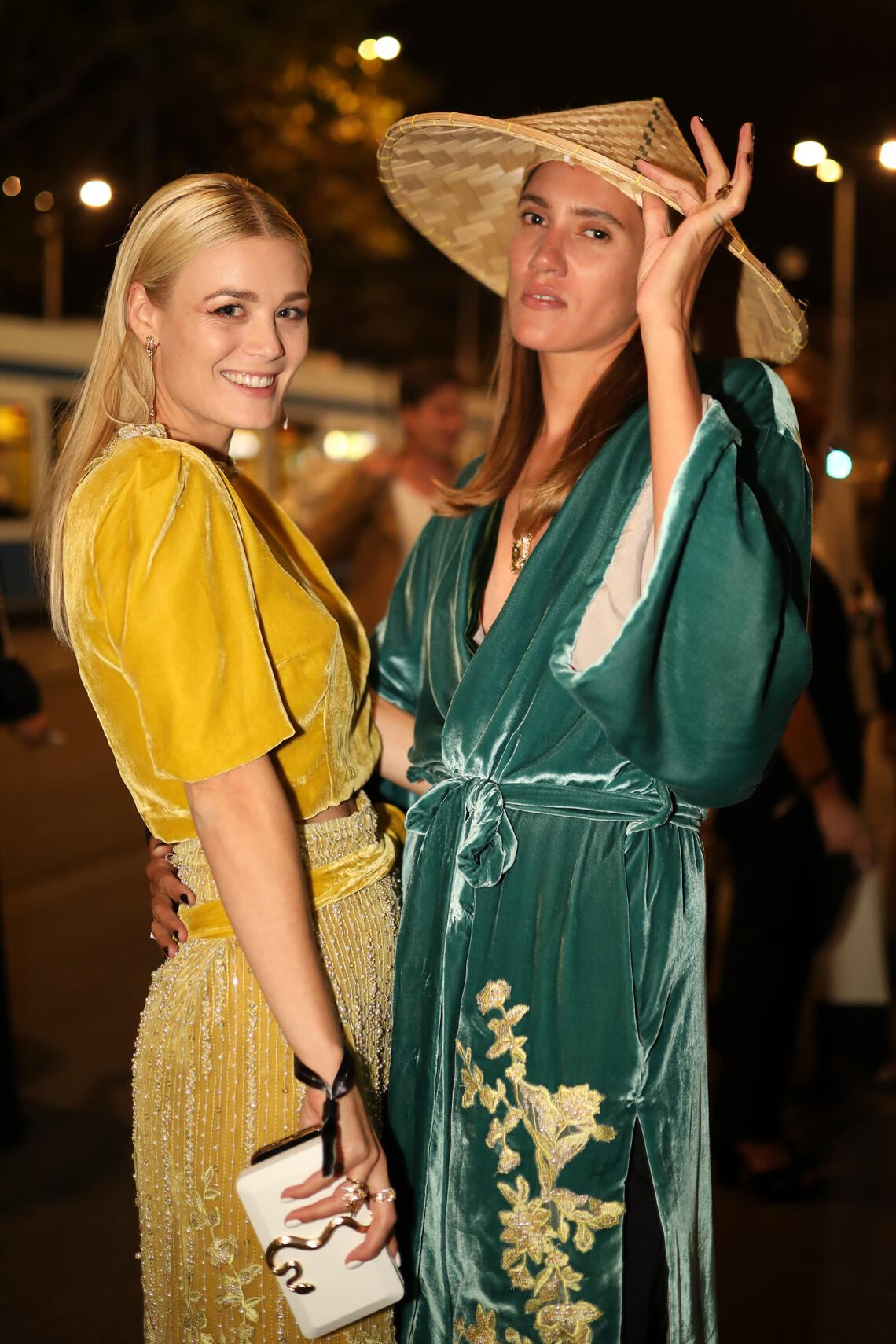 ZURICH, SWITZERLAND - SEPTEMBER 26: Dominique Rinderknecht and Tamy Glauser attend the opening party during the 15th Zurich Film Festival at Globus Bellevue on September 26, 2019 in Zurich, Switzerland. The Zurich Film Festival 2019 takes place from September 26 until October 6. (Photo by Ferda Demir/Getty Images for ZFF)
