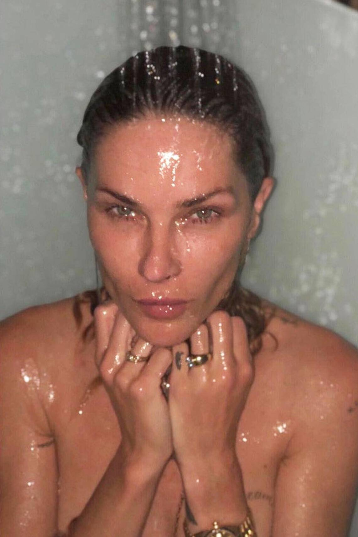Erin Wasson shower