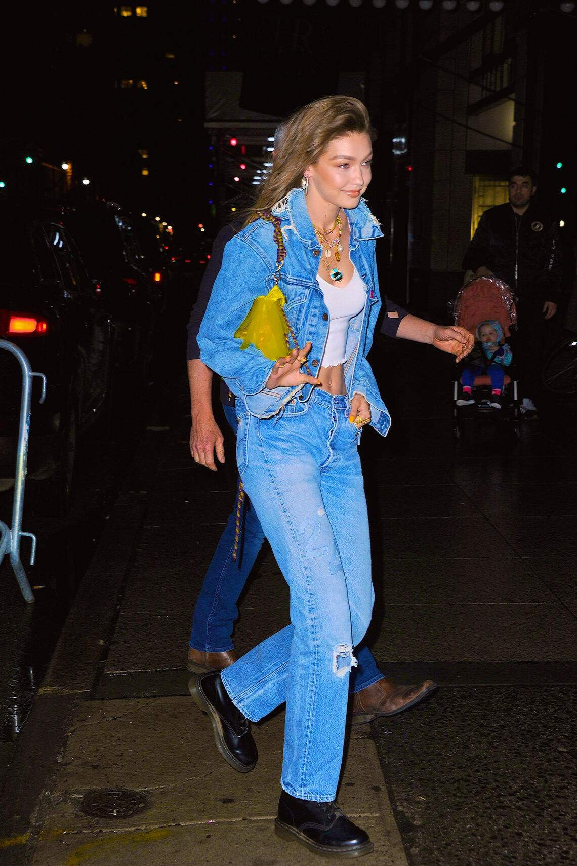 NEW YORK, NY - APRIL 22:  Gigi Hadid seen out and about in Manhattan on  April 22, 2019 in New York City.  (Photo by Robert Kamau/GC Images)