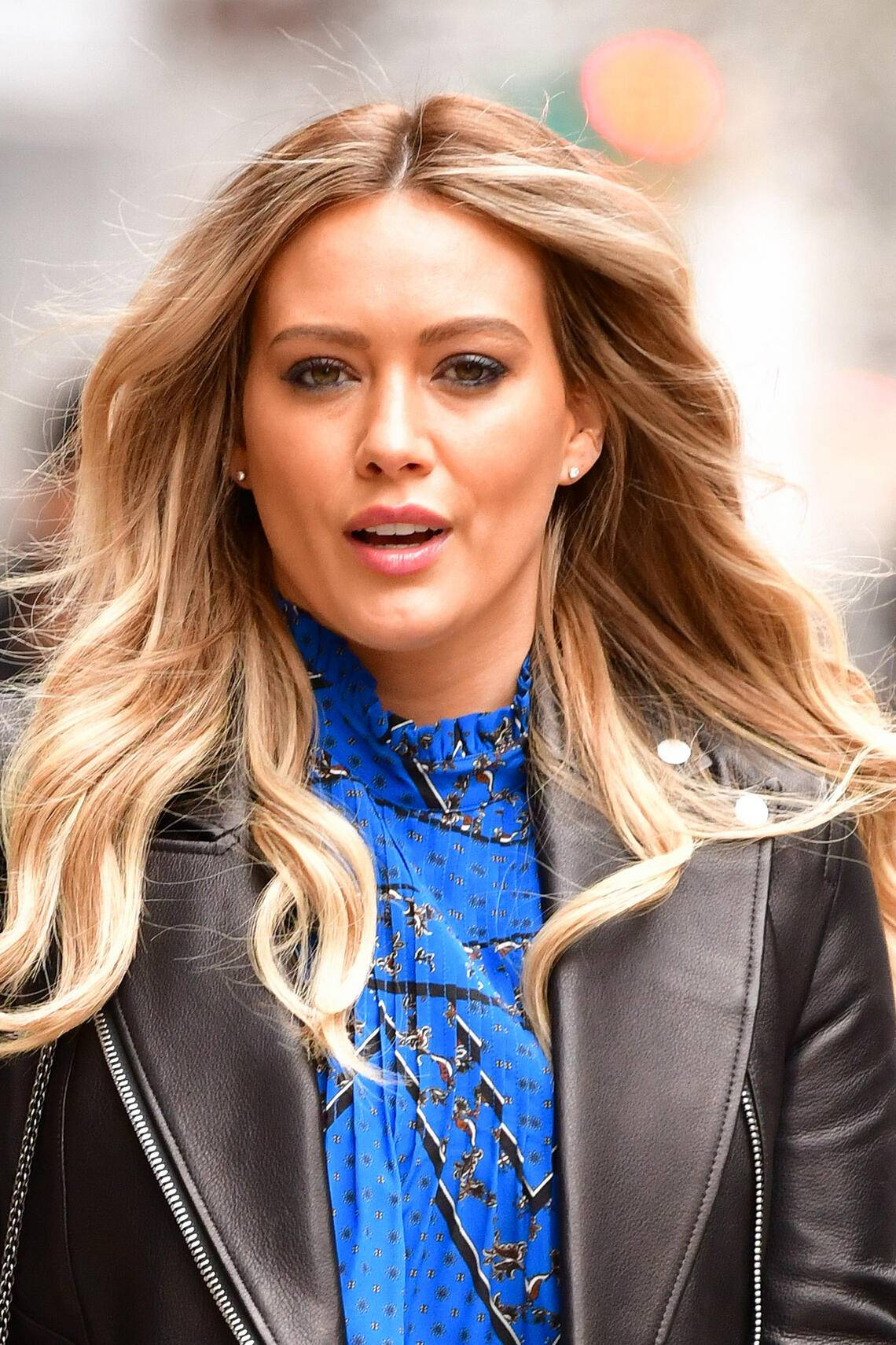 NEW YORK, NY - APRIL 09:  Hilary Duff seen on the set of 'Younger' on April 9, 2019 in New York City.  (Photo by James Devaney/GC Images)