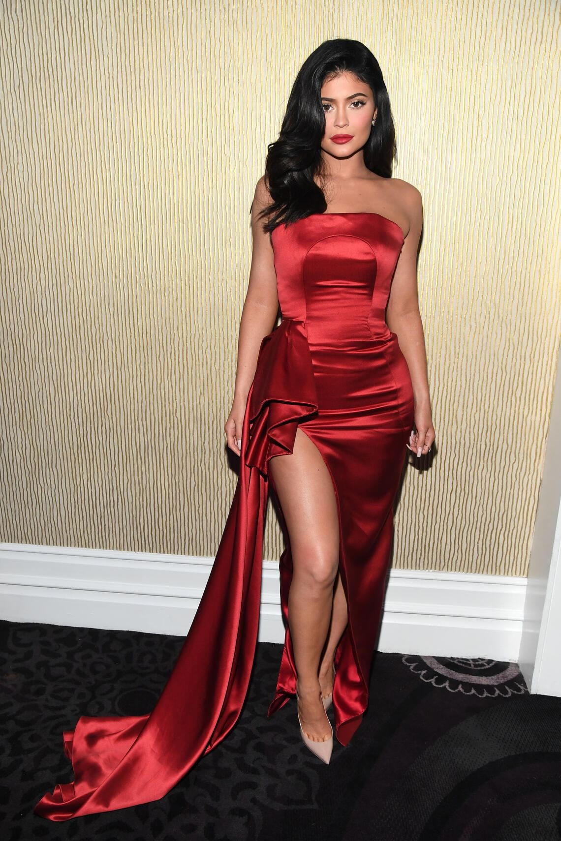 BEVERLY HILLS, CA - FEBRUARY 09:  Kylie Jenner poses during the Pre-GRAMMY Gala and GRAMMY Salute to Industry Icons Honoring Clarence Avant at The Beverly Hilton Hotel on February 9, 2019 in Beverly Hills, California.  (Photo by Kevin Mazur/Getty Images for The Recording Academy)