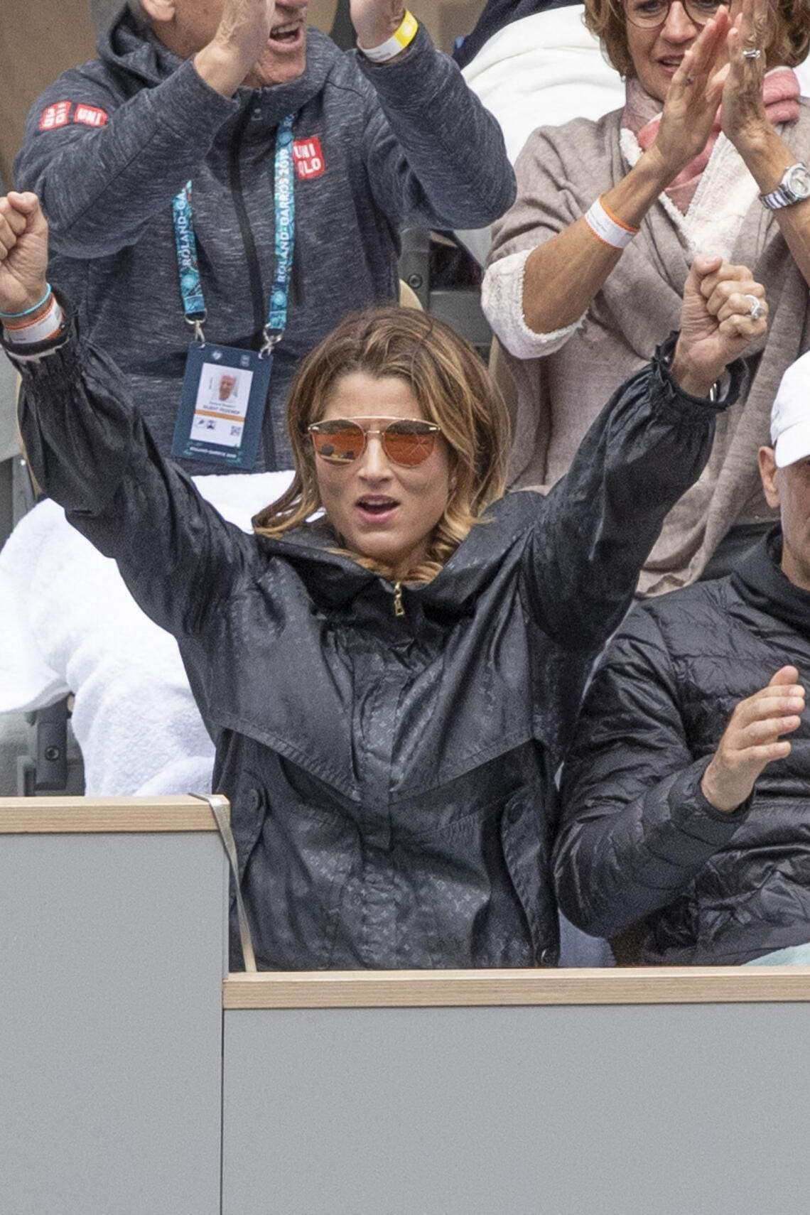 Mirka Federer during the semi final French Tennis Open Day 13 at Roland-Garros arena on June 07, 2019 in Paris, France. Photo by ABACAPRESS.COM (FOTO: DUKAS/ABACA)