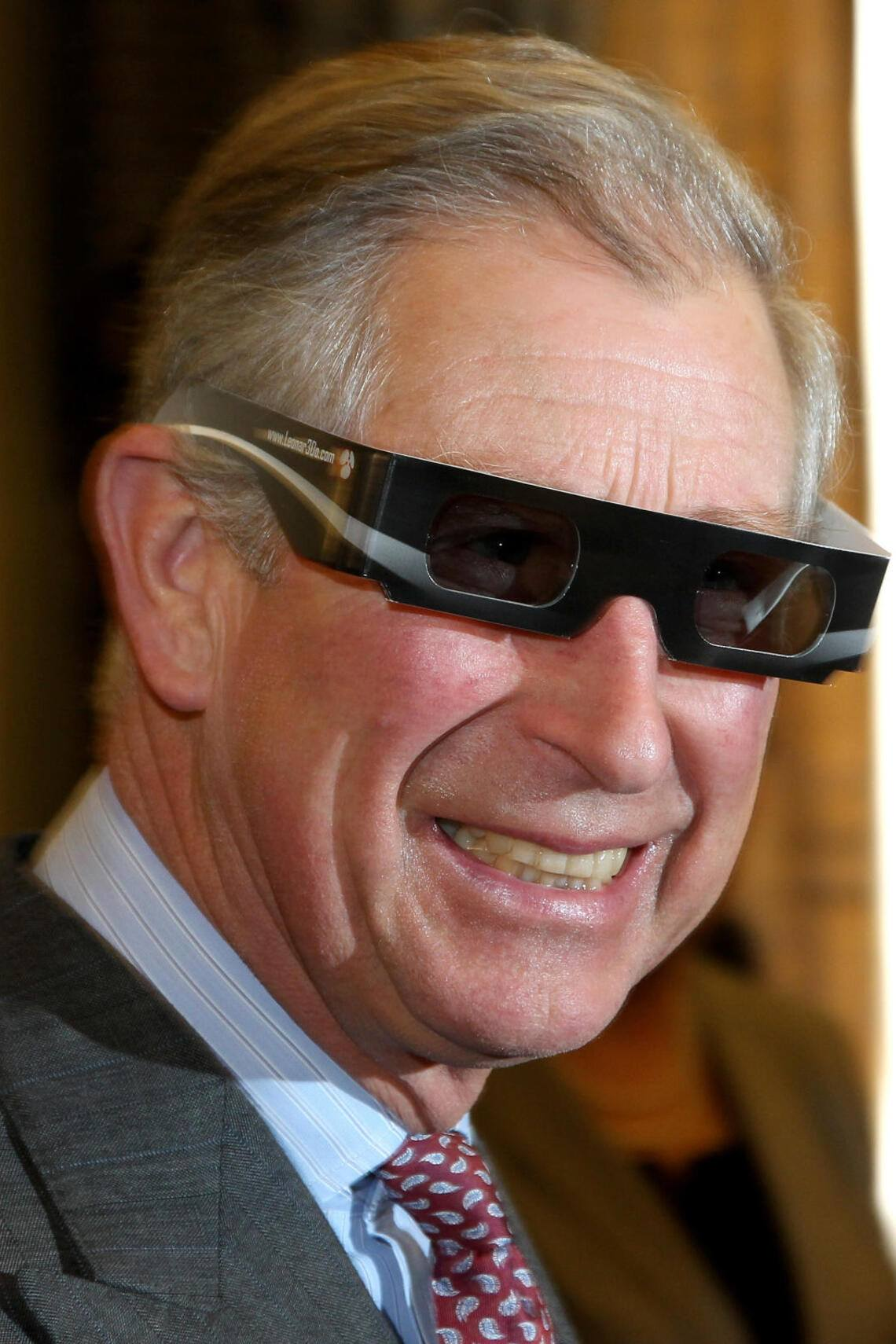 BUDAPEST, HUNGARY - MARCH 18: Prince Charles, Prince of Wales wears 3D glasses as he visits the Hungarian Academy of Sciences on March 18, 2010 in Budapest, Hungary. Prince Charles, Prince of Wales and Camilla, Duchess of Cornwall are on a three day trip to Hungary as part of a tour of Eastern Europe that takes in Poland, Hungary and the Czech Republic. (Photo by Chris Jackson/Getty Images)