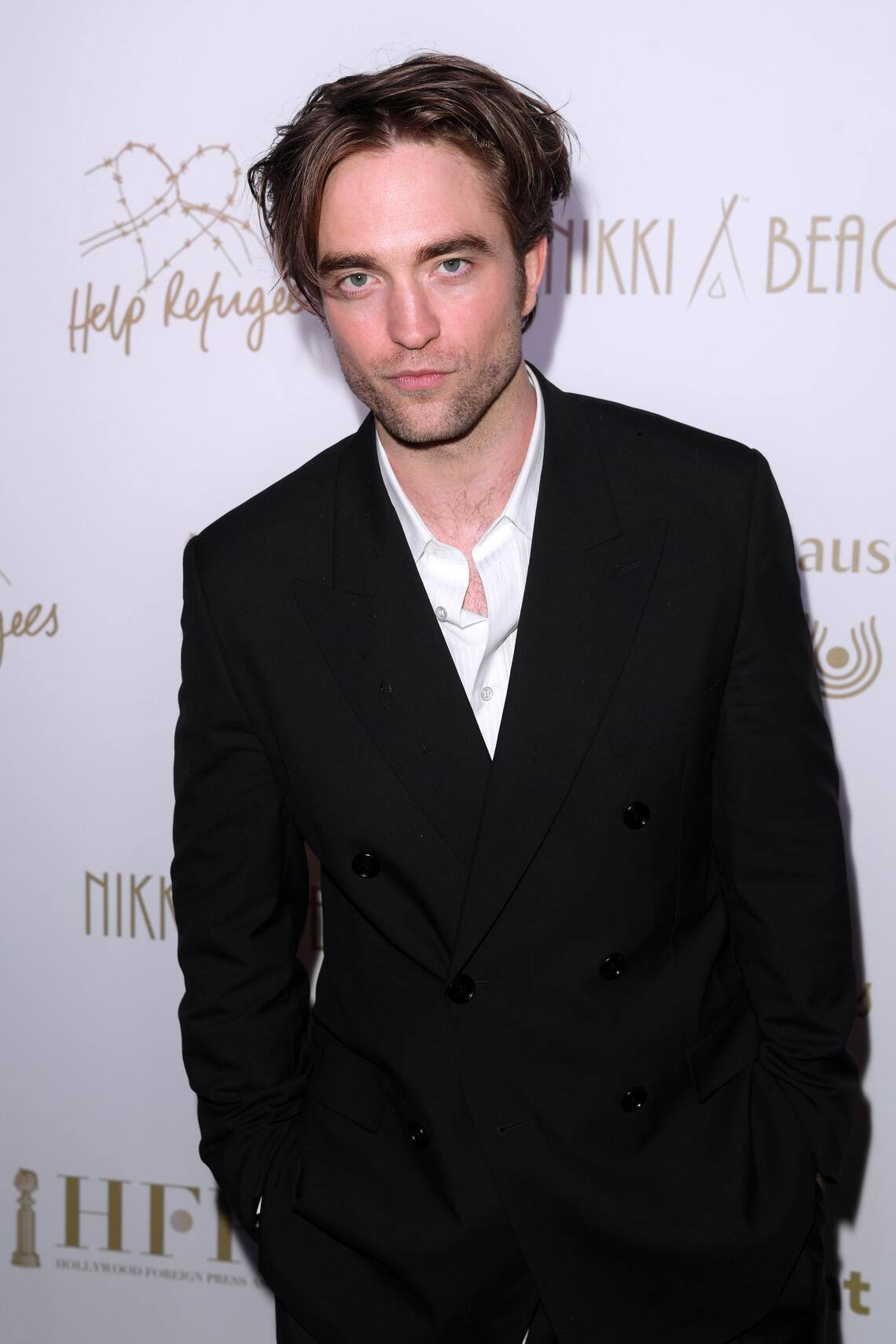 Mandatory Credit: Photo by David Fisher/REX (10241048s)Robert PattinsonHFPA Philanthropic party, 72nd Cannes Film Festival, France - 19 May 2019Event held at Original Luxury Beach Club's Cannes Outpost for a third year and coincides with Nikki Beach's 20 Year Celebration.