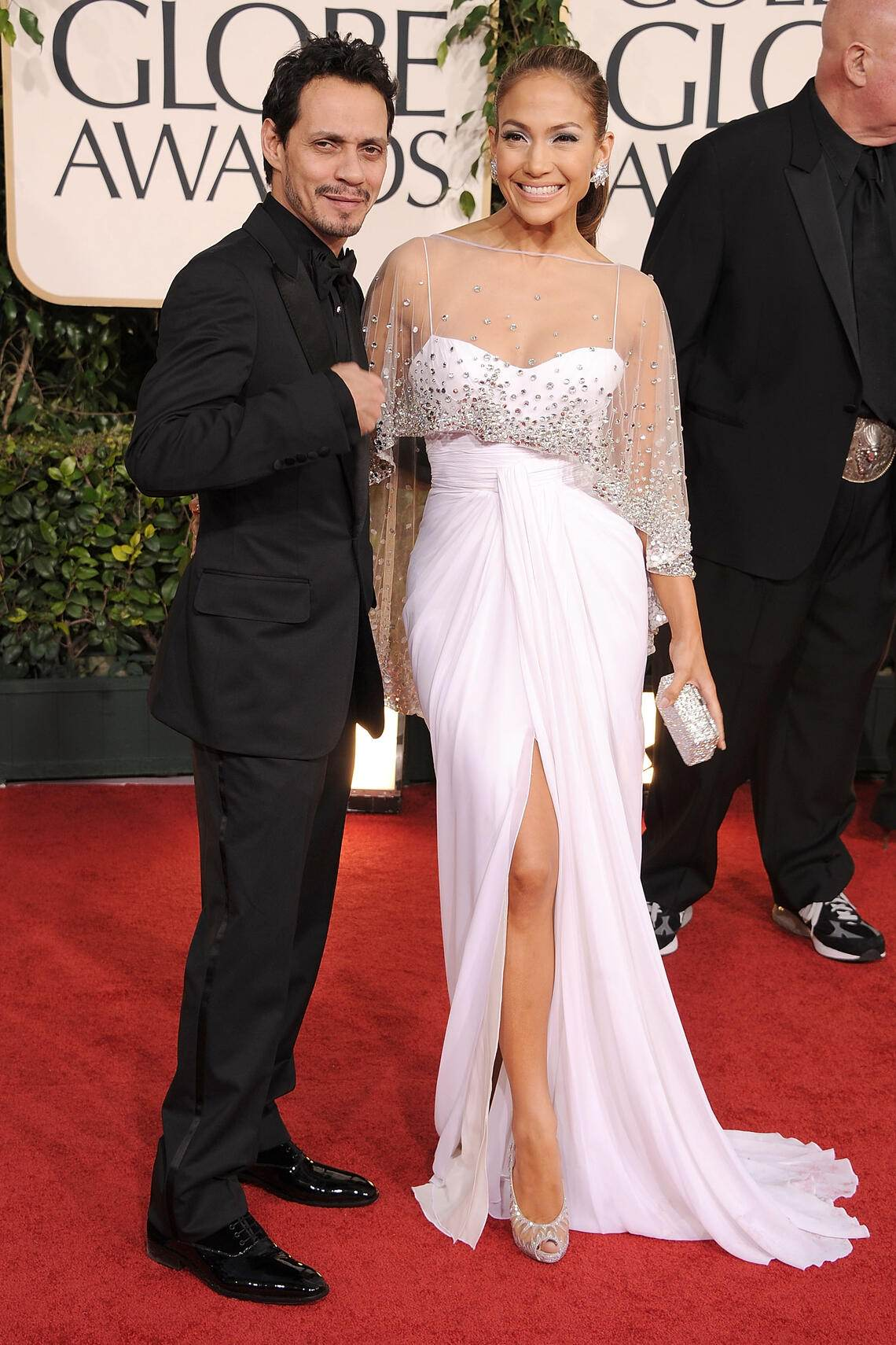 Golden Globes 2011 Roter Teppich Marc Anthony Jennifer Lopez