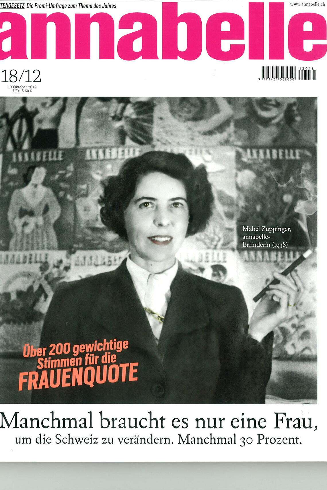 Frauenquote Cover Annabelle
