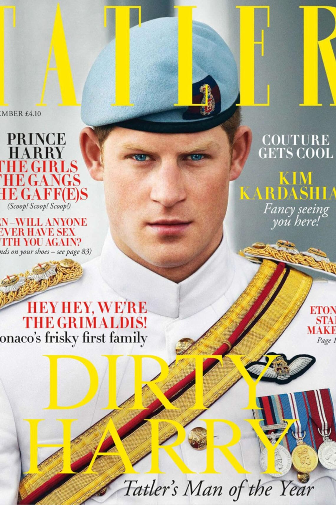 Prinz Harry Wales auf Tatler Cover als Man of the Year