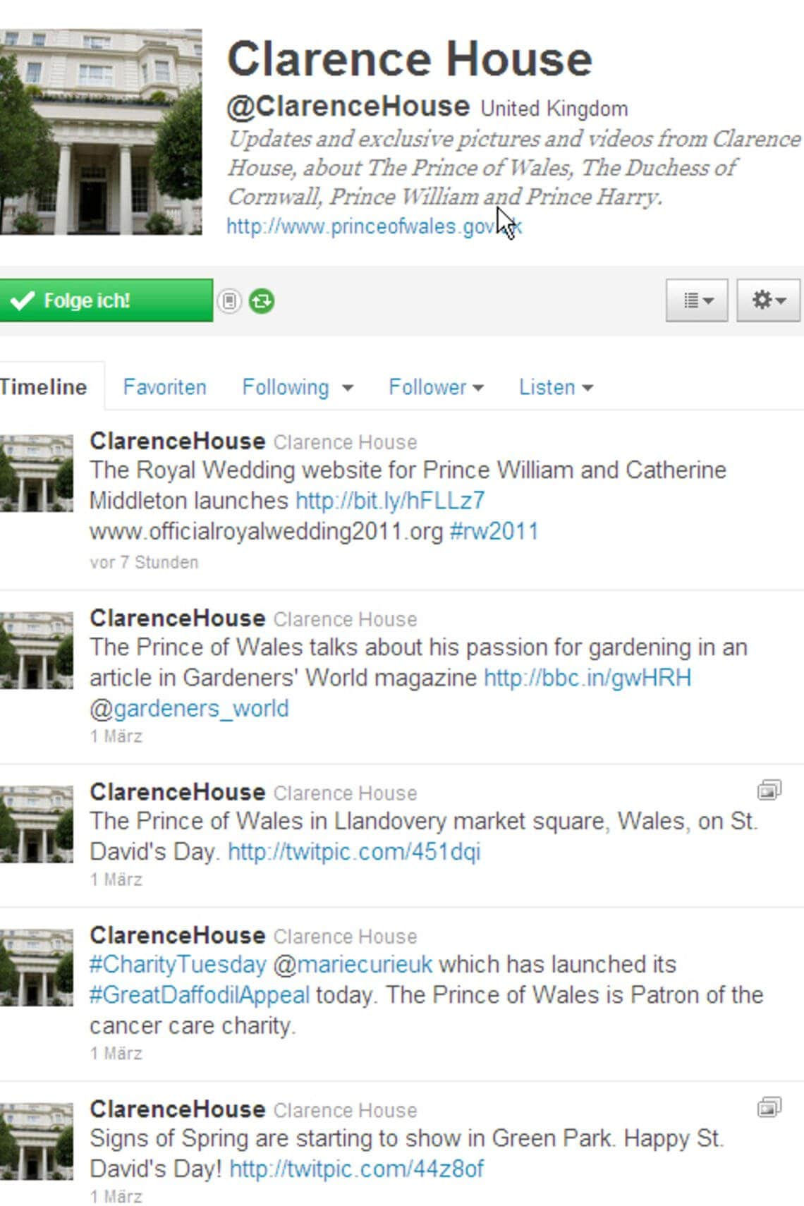 Twitter-Account Will & Kate