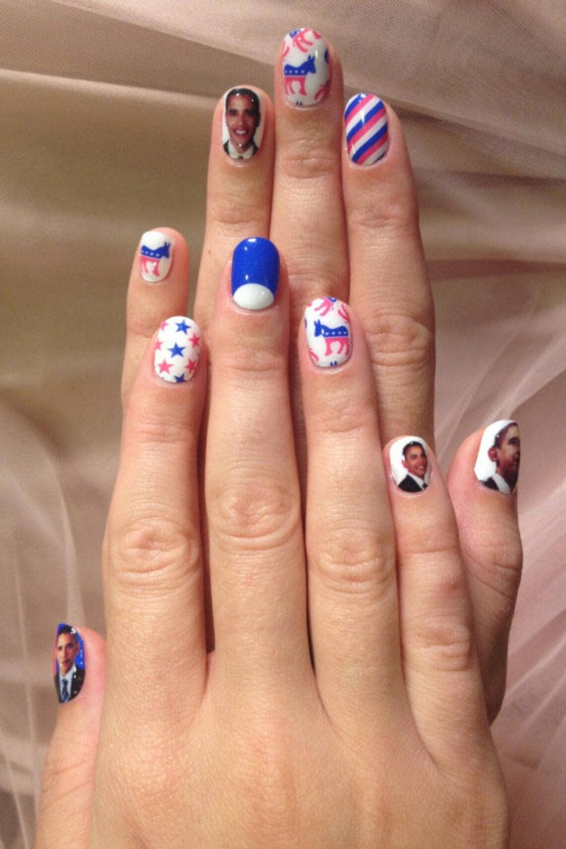Wahlkampf Mode 2012: Katy Perry Nails