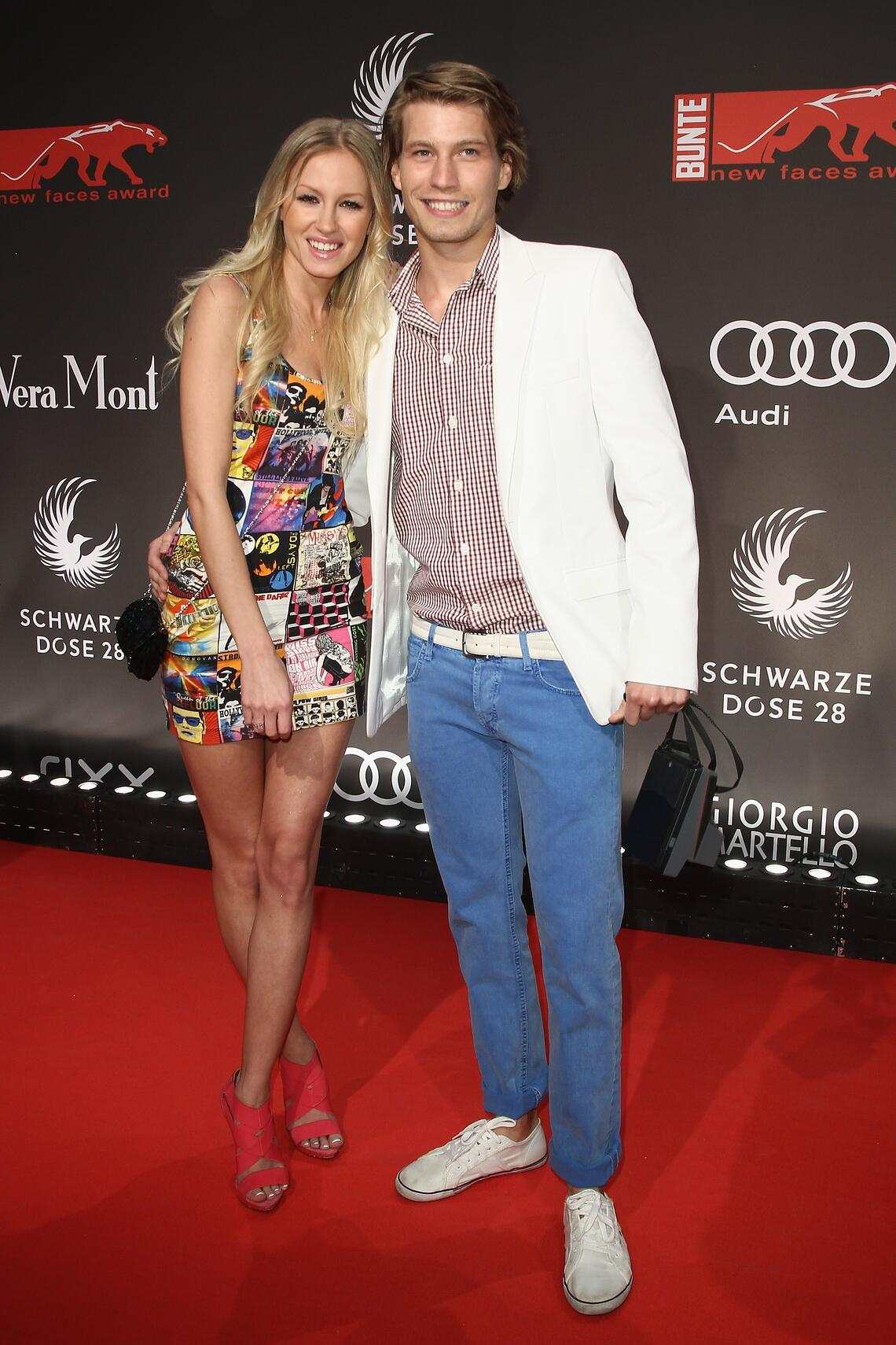 Raúl Richter und seine damalige Freundin Linda Rojewska am «New Face Award» 2011 in Berlin