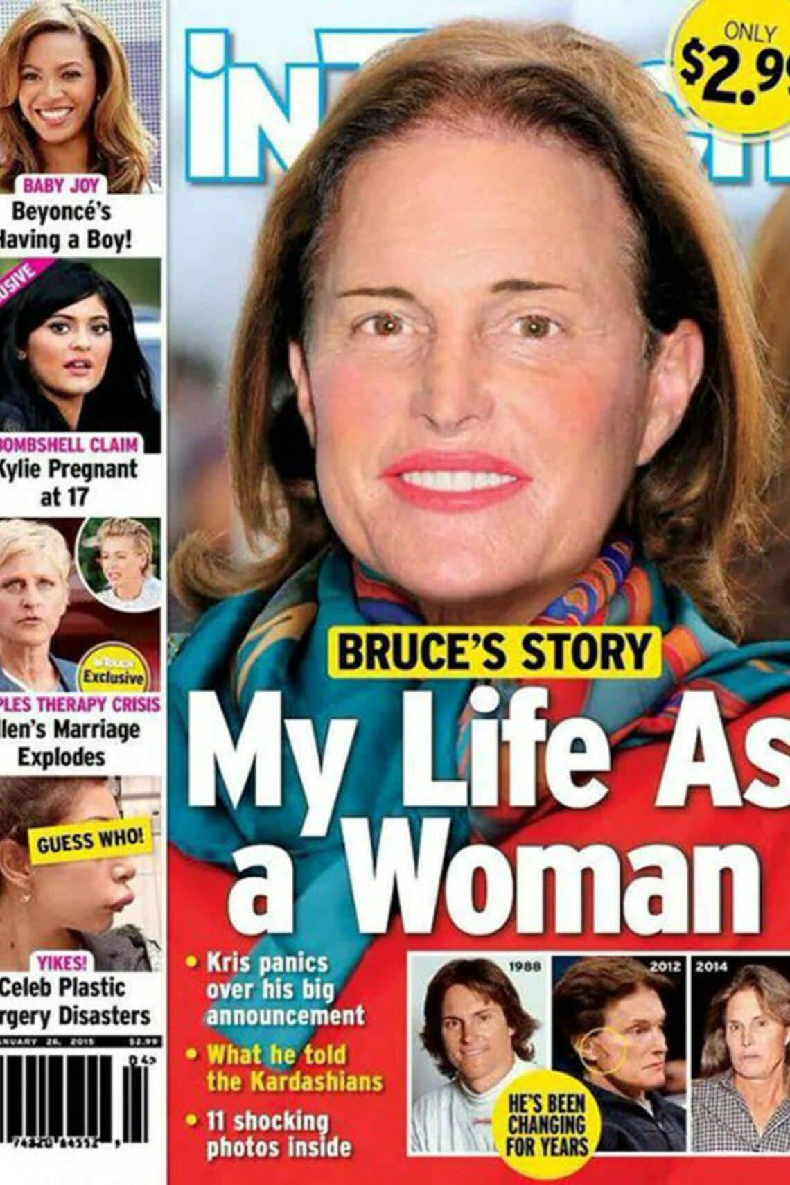 Bruce Jenner (Frau) Cover Photoshop Transgender