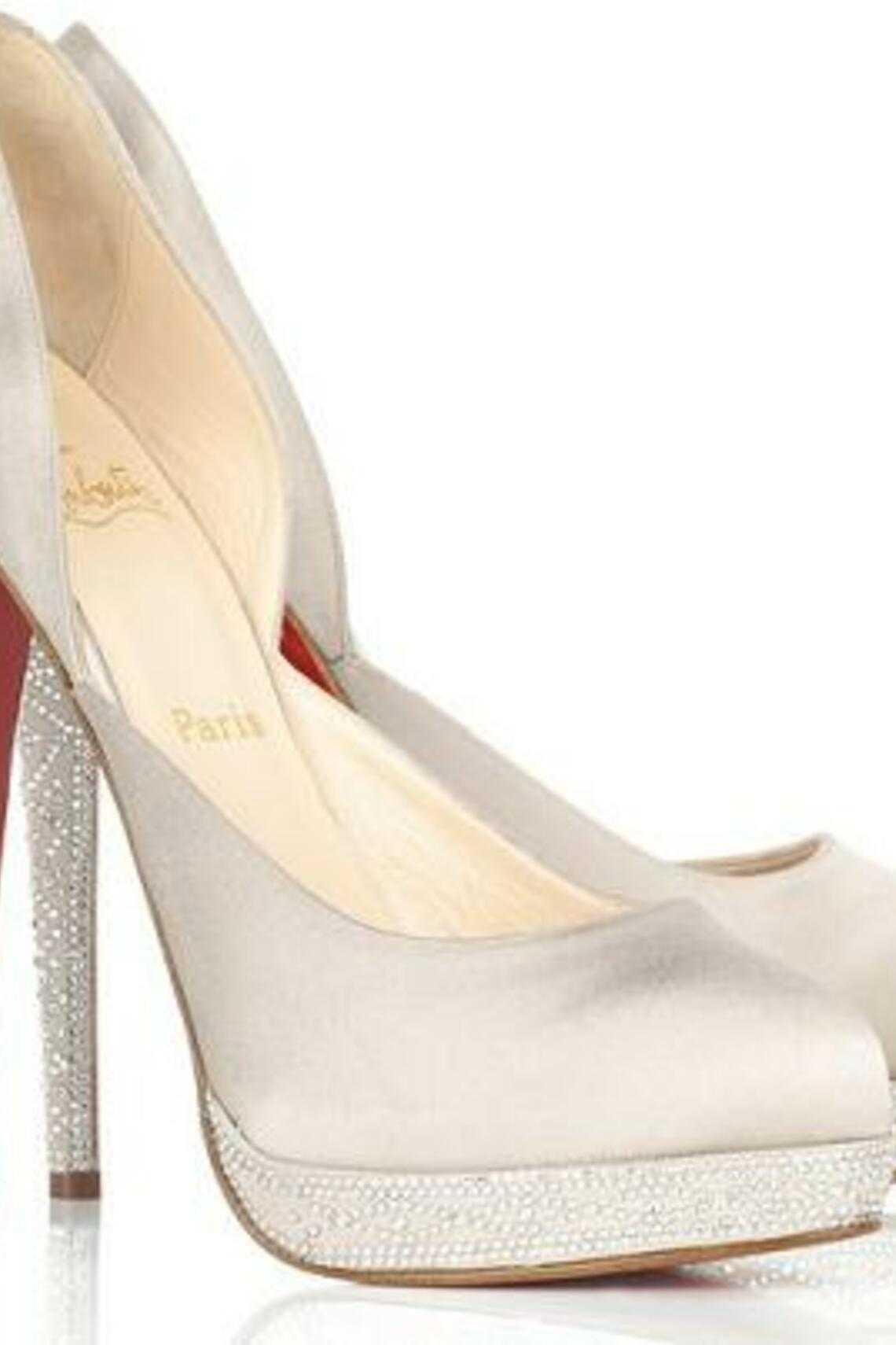 Christian Louboutin Eugenie Satin Pumps, $1,875