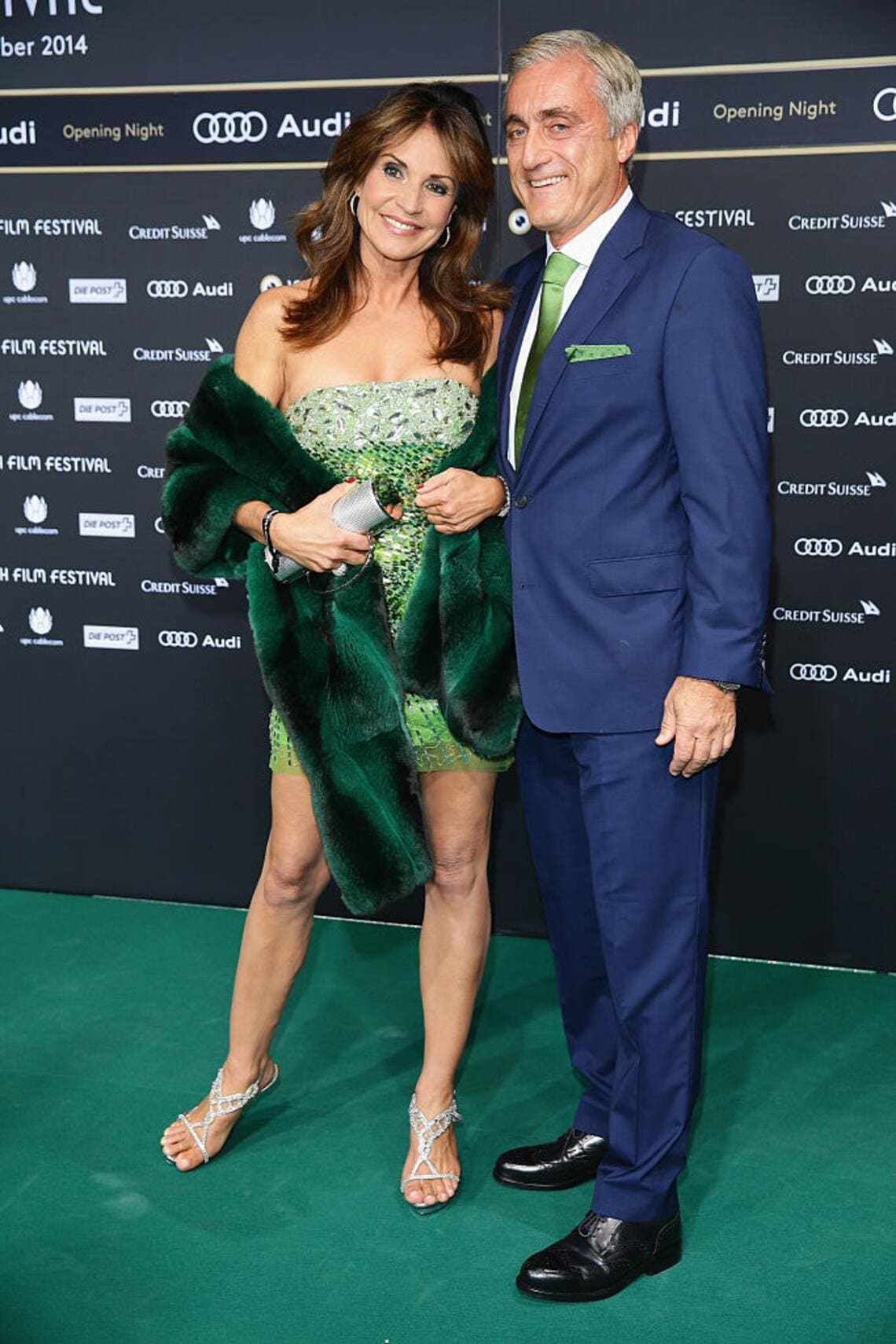ZURICH, SWITZERLAND - SEPTEMBER 25:  Silvia Affolter and Ronald Sauser attend the 'Get On Up' Opening Film and Opening Ceremony of the Zurich Film Festival 2014 on September 25, 2014 in Zurich, Switzerland.  (Photo by Vittorio Zunino Celotto/Getty Images for ZFF)