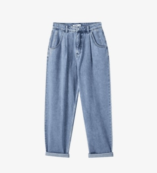 Pleated Jeans